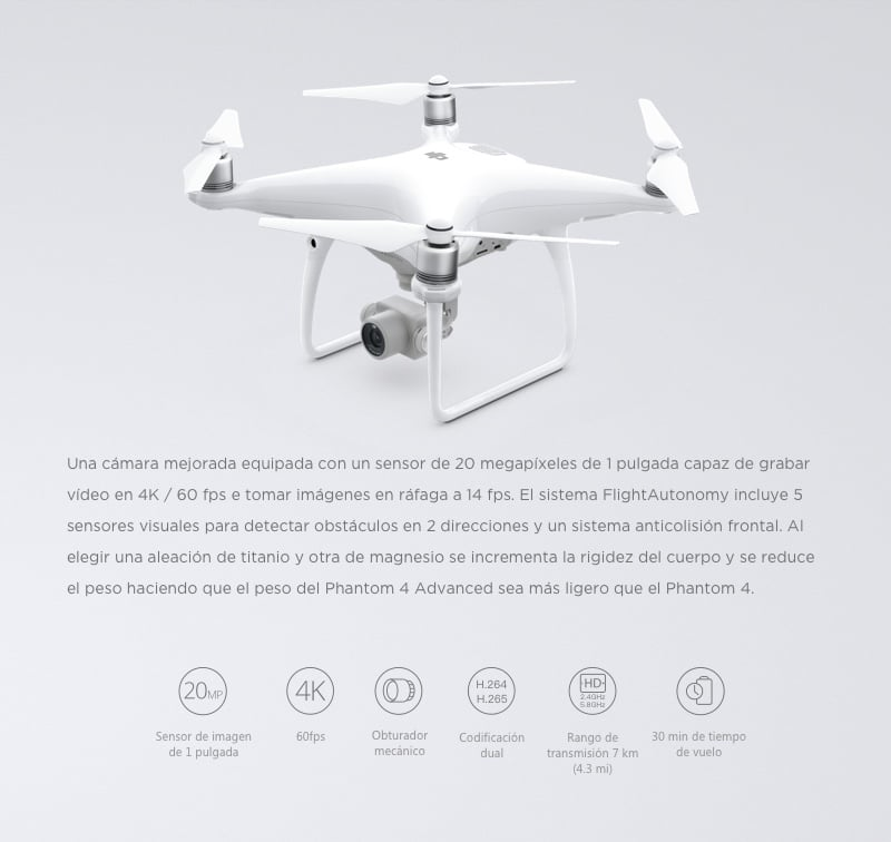 Drone DJI Phantom 4 Avanced 16